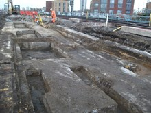 Bermondsey Dive Under: Old platform footings uncovered from the long-lost Southwark Park station