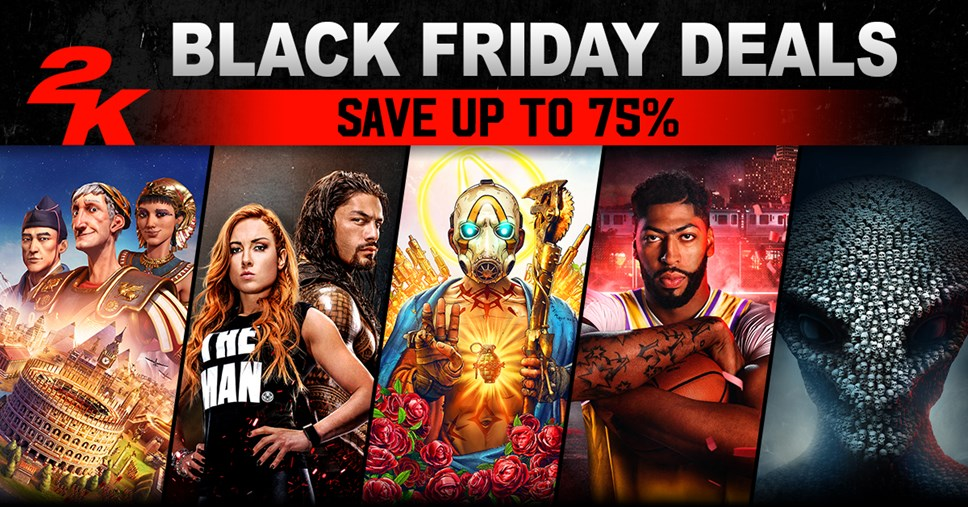 Blockbuster Deals on 2K's Biggest Games for Black Friday 2019: 2K Black Friday Sales 2019