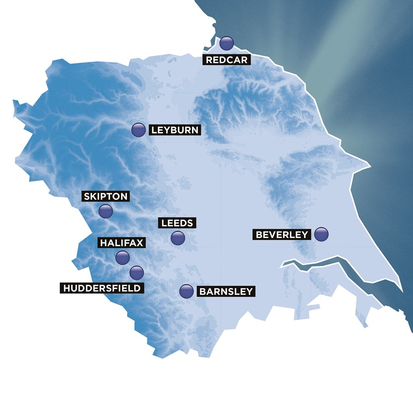 Start and finish locations for 2020 Tour de Yorkshire announced: 2020tdyhostlocationsmap-181849.jpg