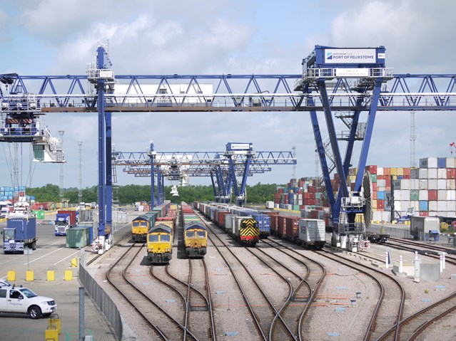 Network Rail gets green light to enable more freight along Felixstowe branch line: Felixstowe Port