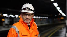 East Kent resignalling - Huw Edwards, project director: Huw Edwards - head of Network Rail Signalling in the South East, on site in Rochester as the resignalling takes place