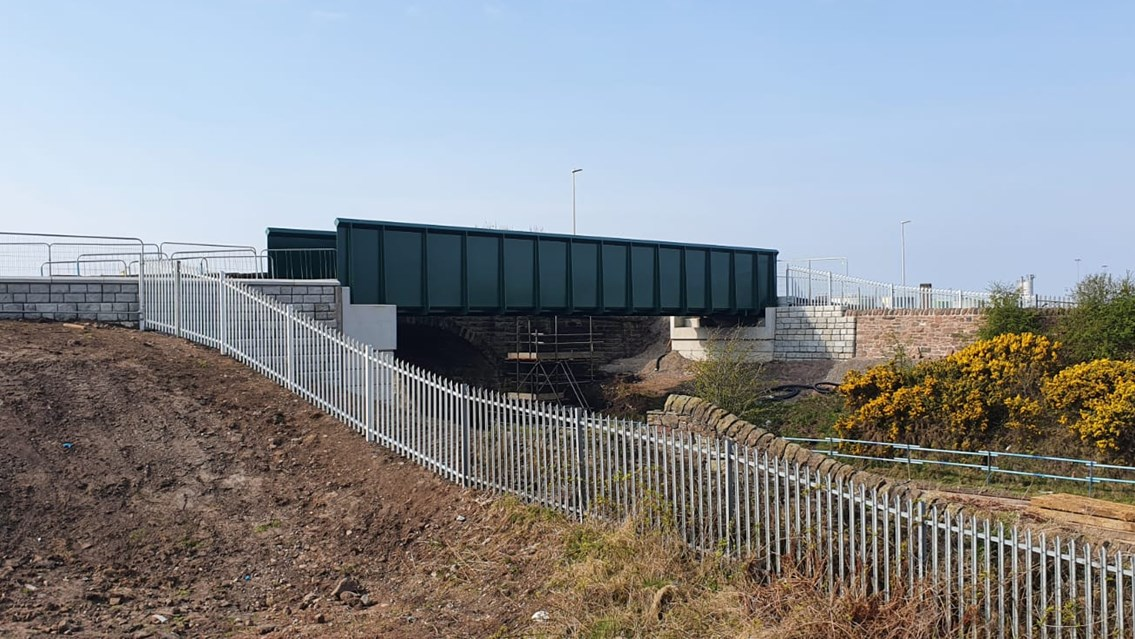 Road and rail changes during Port of Workington bridge upgrade: Siddick new footbridge 20 April 2021