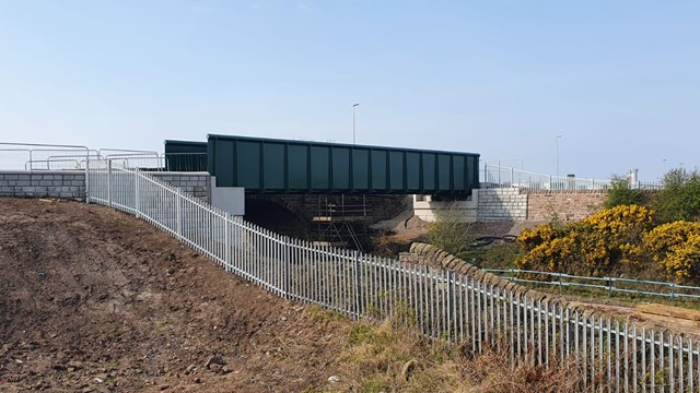Road and rail changes during Port of Workington bridge upgrade: Siddick new footbridge 20 April 2021