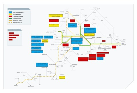 Great Western Route Utilisation Strategy, overview of schemes