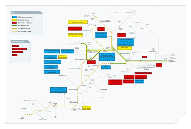 RAIL GROWTH STRATEGY FOR THE GREAT WESTERN LAUNCHED FOR CONSULTATION : Great Western Route Utilisation Strategy, overview of schemes