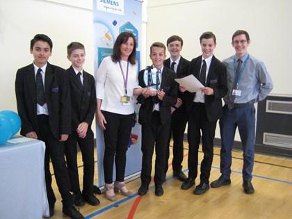 Pupils celebrate robotics challenge winners: IMG 6638