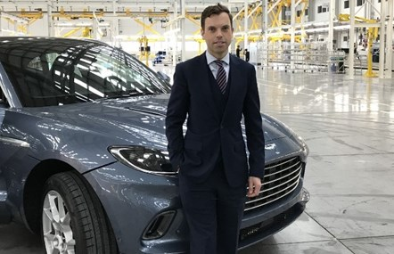 Economy Minister Ken Skates with the DBX at the official opening of the Aston Martin Lagonda facility in St Athan