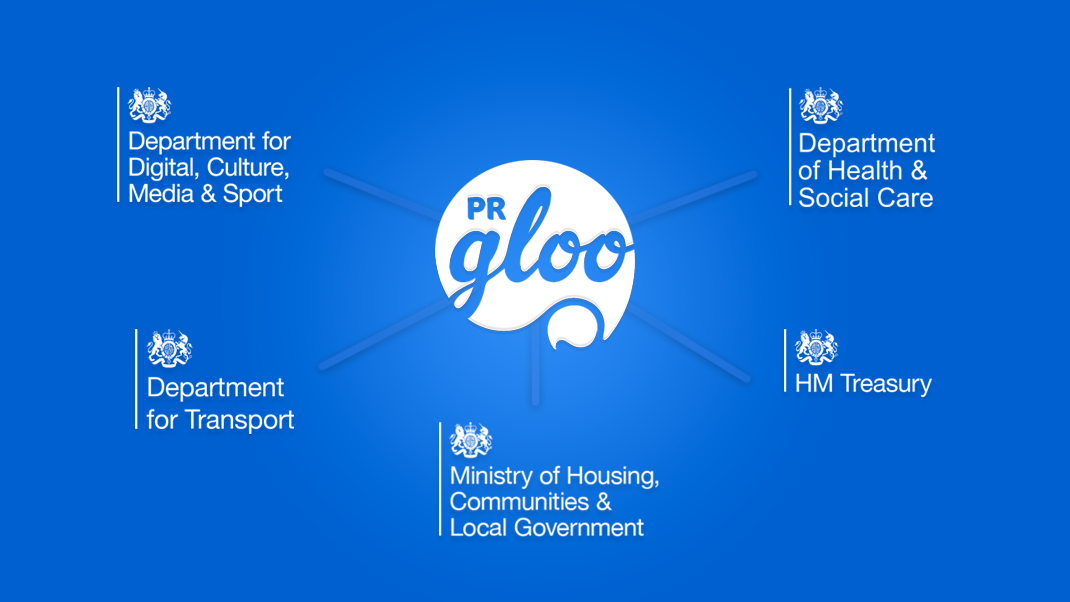 PRgloo Welcomes DCMS as our Latest Central Government Customer: Central Government Customer List