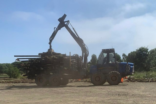 Track work is a big lift for Levenmouth rail project: Removing redundant track at Leven