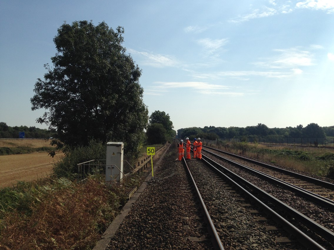 Rail workers fight back against track defects caused by the hottest summer on record: Workers assess clay problems