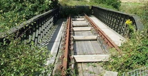 A disused railway bridge on Amlwch branch line