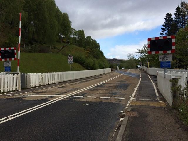 Railway upgrade at Garve level crossing: garve LX generic image