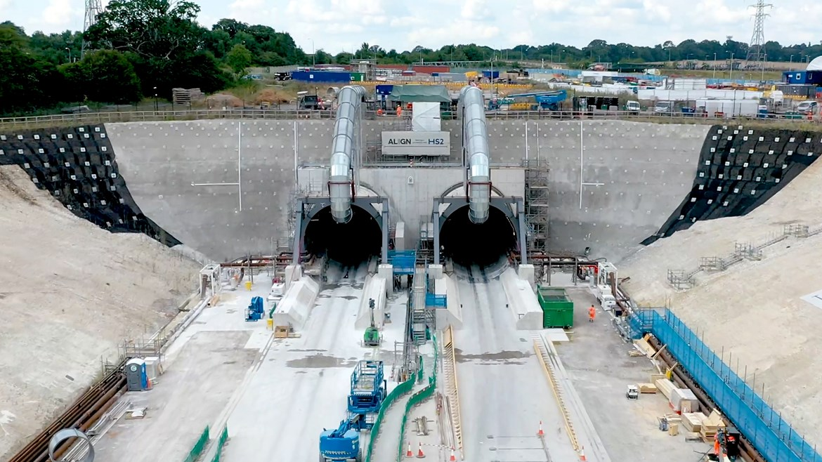 HS2 encouraging businesses big and small to bid for 250 new contracts: South portal of the Chiltern tunnel after launch of the TBMs summer 2021 #27337