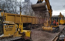 Track being laid at Farnworth Tunnel