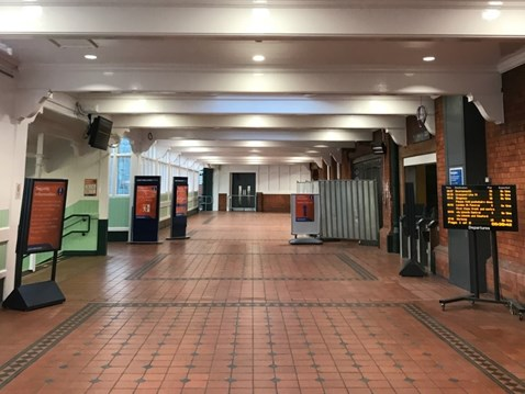 First stage of completed repairs at Nottingham station ready for passengers
