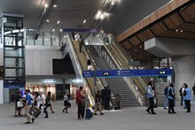 New concourse: 2 of the 14 new escalators at London Bridge