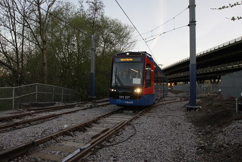 Network Rail carried out Easter work on the network to allow Tram Trains to run in the future 3