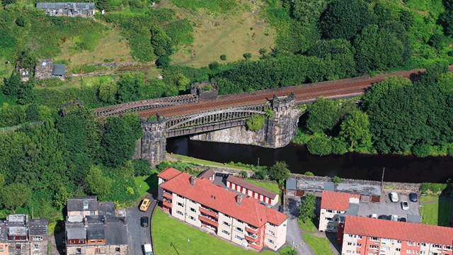 Aerial photo of Gauxholme Viaduct 16x9