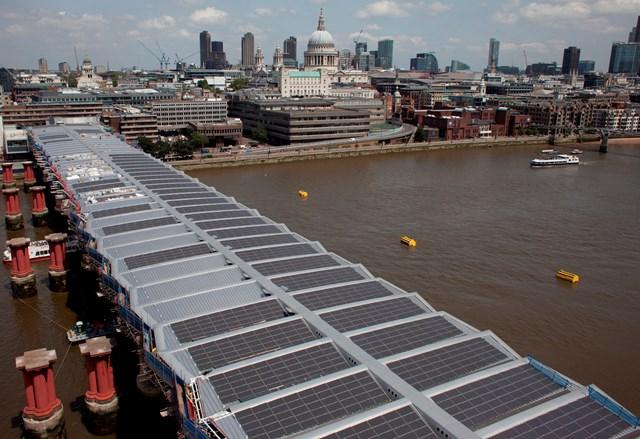 Blackfriars solar panels