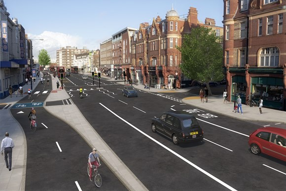 TfL Press Release - TfL moves forward with plans to transformStreathamHill for walking and cycling: TfL Image - Streatham Hill