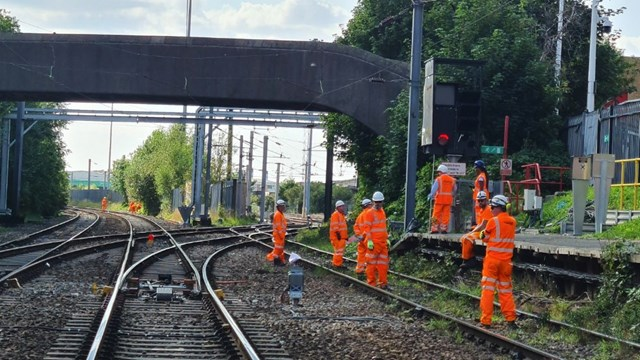New signals being installed as part of Trafford Park upgrade