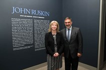 Shona Robison at John Ruskin Exhibit