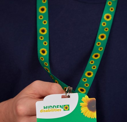 Nationwide scheme to boost disabled people's confidence in train travel: sunflower lanyard 2