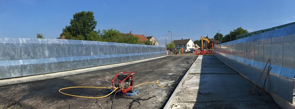 Network Rail to open £4m Baillieston railway bridge two weeks early: 6 Aug Muirhead Rd bridge deck