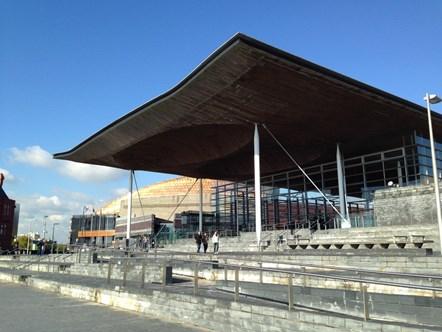 Senedd outside: The Senedd, Welsh Assembly, Cardiff Bay