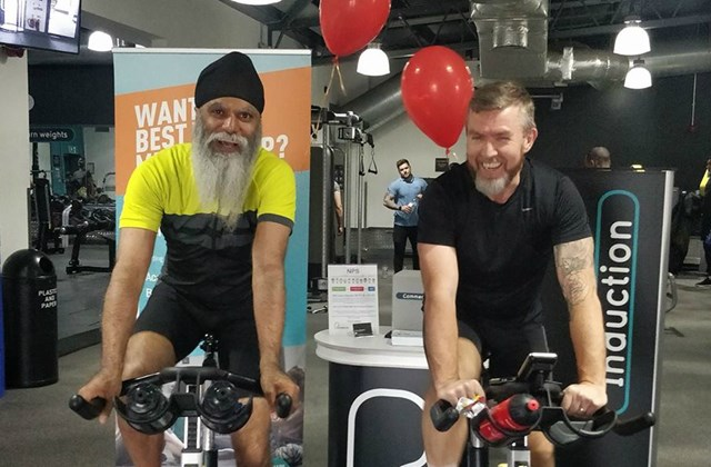 Railway signaller swaps trains for trainers in half marathon and cycling challenge: Manny Kang in training