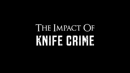 The Impact Of Knife Crime title slide