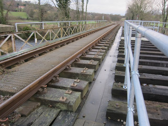 Railway bridge before improvement work