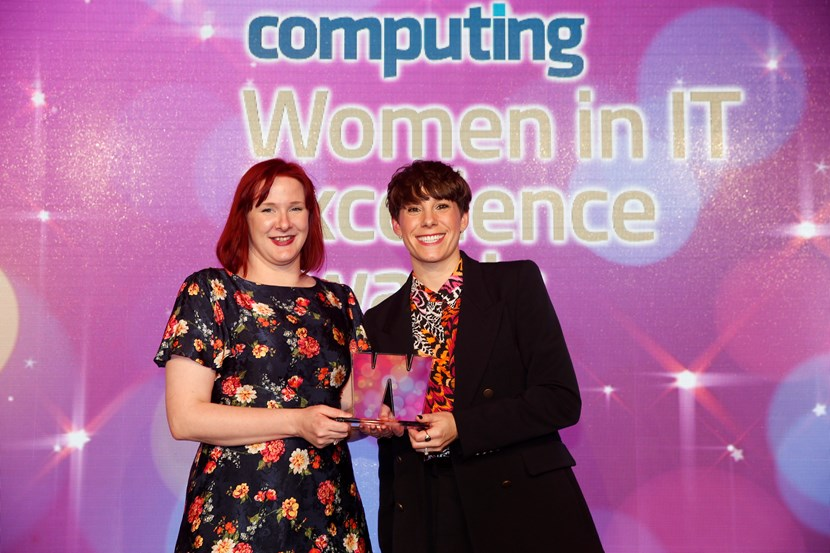 Leeds #techmums club receives national Women in IT Excellence award: digitalengagementlibrarianclaireduffieldandjoannemiklo-741183.jpg