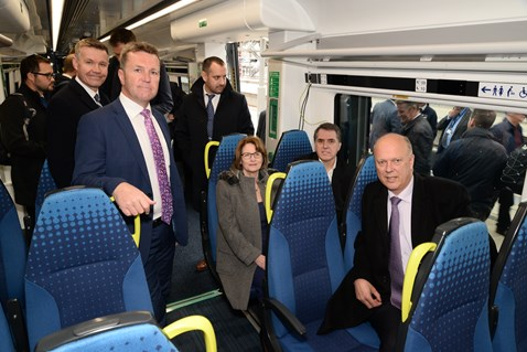 Transport Secretary Chris Grayling MP sees inside Northern's new trains