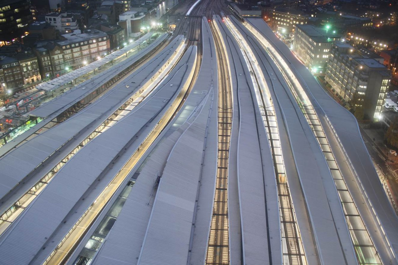 South East runs on rail: New figures show the full extent of the rail industry's contribution to Kent and south east London: London Bridge from above
