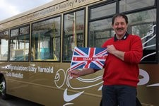 Arriva gold bus honours winter Olympian Lizzy Yarnold: Arriva gold bus honours winter Olympian Lizzy Yarnold (2)