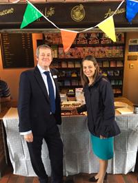 175 years of Headcorn Railway Station: Helen Whately MP and David Wornham
