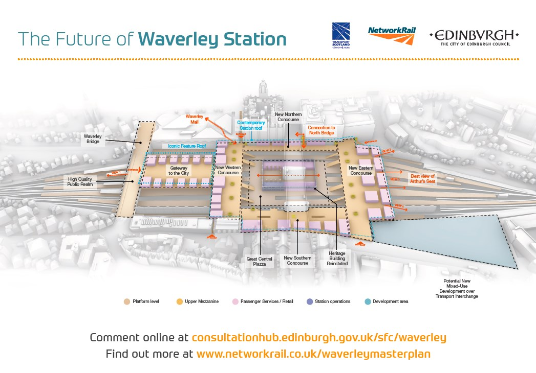 Views Sought on Future of Waverley Station: Waverley masterplan preferred option