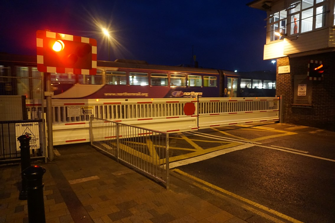 New railway crossing gates signal the end of traffic issues in Redcar: The first train passes new level crossing barriers at West Dyke Road, Redcar