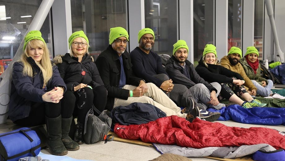 Railway sleepers raise record sum for charity with nationwide station event: Sleepout volunteers- 30-01-20