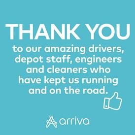 Arriva UK Bus, Thank you