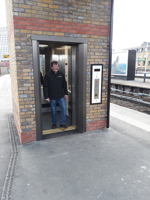 New lift at Vauxhall