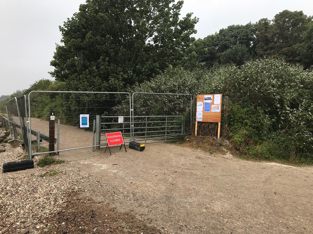 Changes to footpath closure as monitoring work continues: Network Rail urges public to stay safe and keep off closed footpath