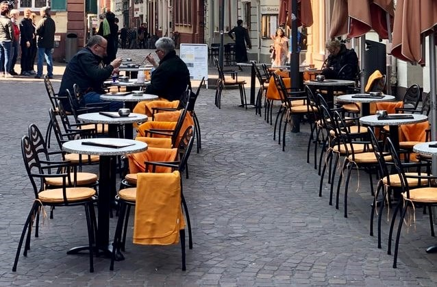 """No charge for pavement seating as council supports """"continental town centres"""": Street cafe cropped"""