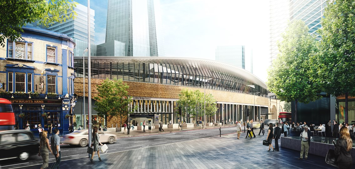 New station control office unites rail staff at London Bridge as concourse opening approaches: London Bridge station, Tooley St CGI