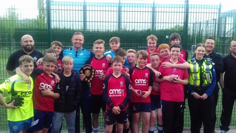 Lee Trundle visited the tournament in Merthyr Tydfil