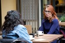 Samaritans Brew Monday - at table, wide angle