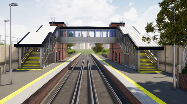 Heavy metal comes to Liphook station in 2021 with new steel footbridge: Liphook artist's impression