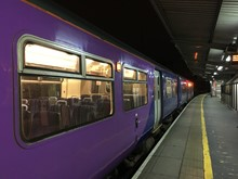 First train from Preston to Blackpool South on 29 January 2018