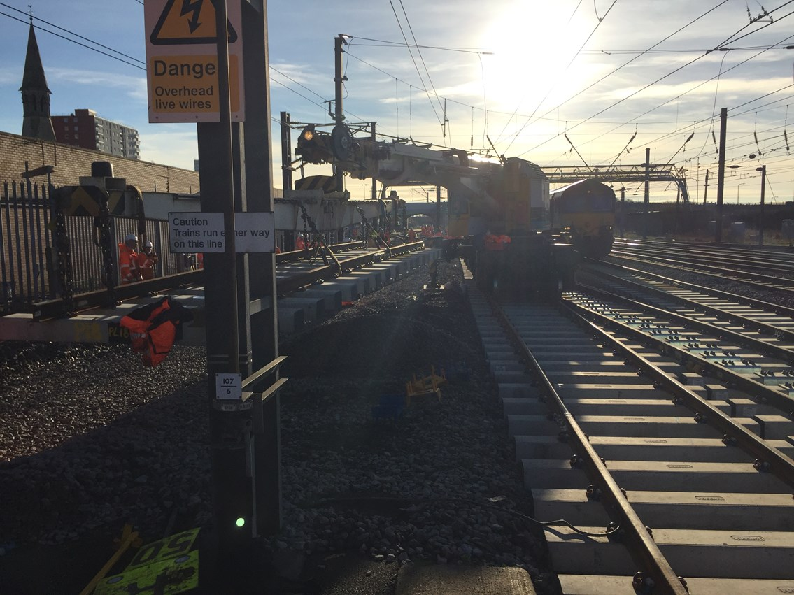 New advanced railway engineering techniques saved time and money at Christmas: Switches and Crossings at Doncaster South